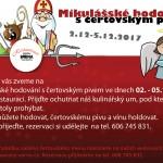 Mikulášské hodování s čertovským pivem 2.12-5.12.2017